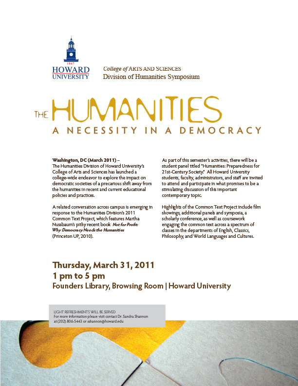humanities conference march 2011 press release