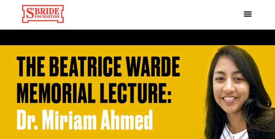 MAhmed Beatrice Warde Memorial Lecture